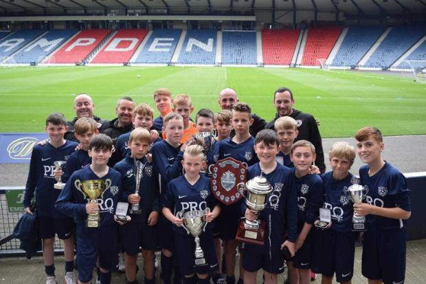 The Johnstone youngsters who followed in the senior side's footsteps by becoming top flight champions