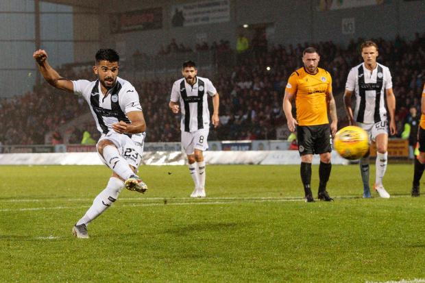 Djorkaeff fired home from the spot with two and half minutes remaining  (Photo: Allan Picken)
