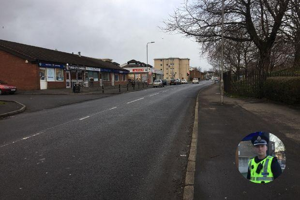 Inspector Cast, inset, has promised action after a teenager was discovered in Clippens Road last week