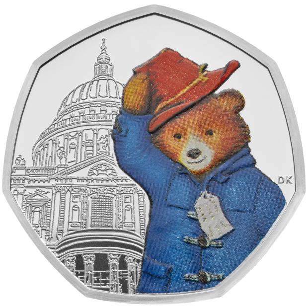 The Gazette: A silver proof 50p depicts Paddington Bear at St Paul's Cathedral (Royal Mint/PA)