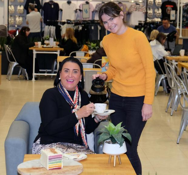 The Gazette: Customer at the new Primark café at intu Braehead, Gillian Macdonald, left, with café manager, Rachel Fulton