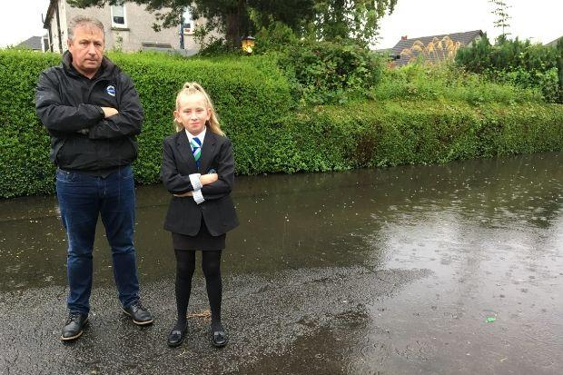 Thomas and Keira McGroarty in Stirling Drive, Johnstone