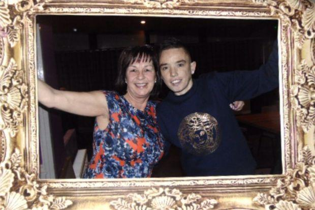 Stewart Kelly with his mum Shirley