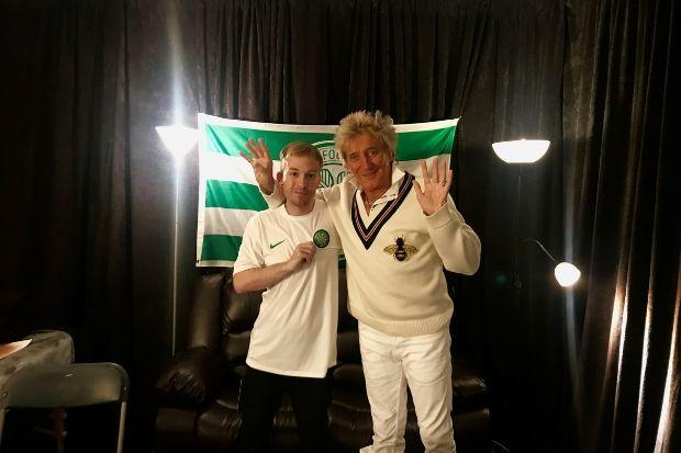 Ryan Hassan and Rod Stewart bonded over their love of Celtic