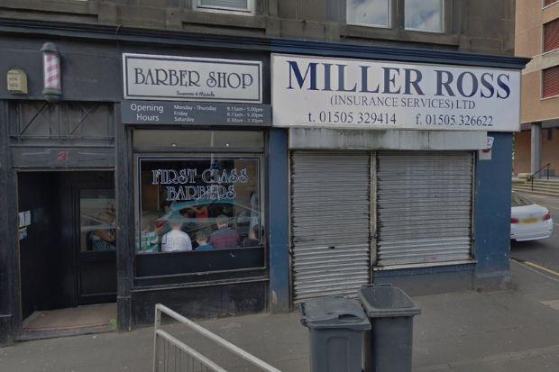 The booking office is set for 21 High Street in Johnstone