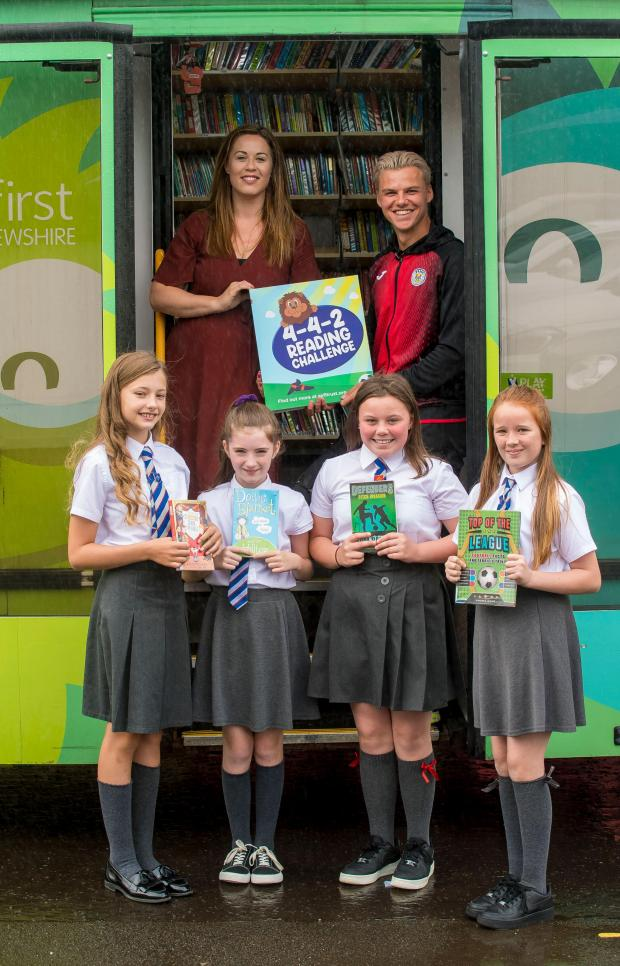 The Gazette: Nicky Reid (left) and Cody Cooke and (l-r) Sophie McGinley, Abigail Leitch, Millie Hunter and Lucy McDonald below