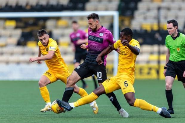 Andreu in action against Livi (Photo: Allan Picken)
