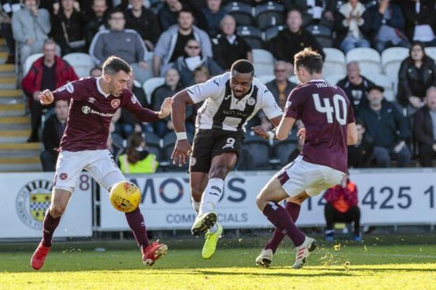The big striker spurned a glorious late chance against Hearts last weekend (Photo: Allan Picken)