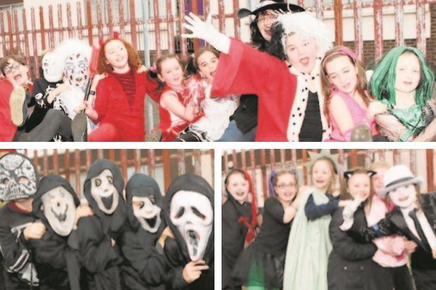 Pupils held creepy conga round the block