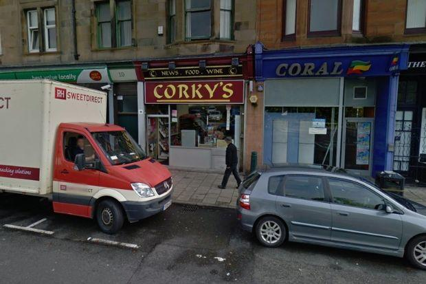 The assault occurred in the doorway of Corky's, in Paisley.
