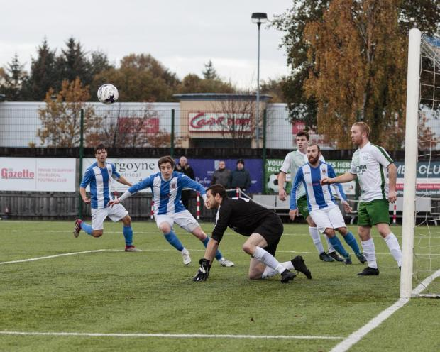 The Gazette: The north Glasgow side were able to frustrate Frew at New Western Park (Photo: Allan Picken)