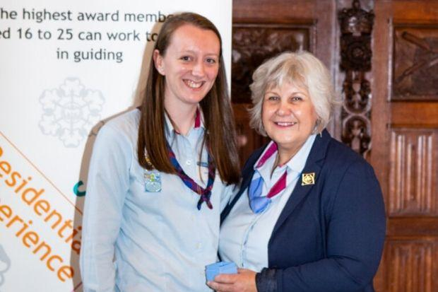 Nicola Smith with Deputy Chief Guide Julie Bell