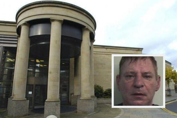 Gerard Porteous (inset) was caged at Glasgow's High Court