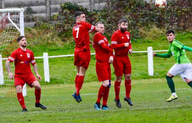 The Gazette: Burgh were unable to find a way past St Roch's as they fell to their first loss of the season (Photo: Kenneth McWilliam)