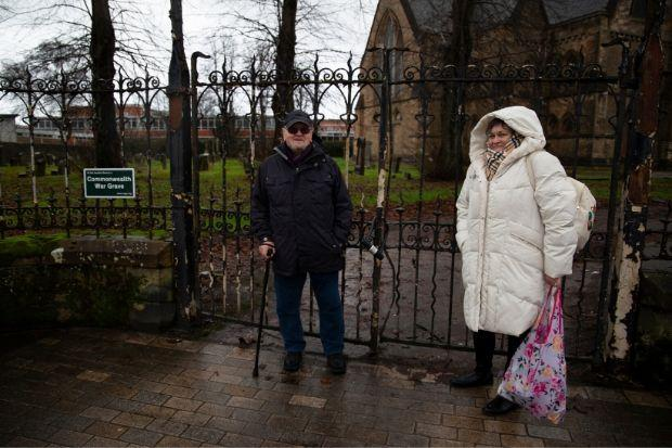 Harry Birrell and Lindsay McKillop had complained about being locked out of the Renfrew graveyard