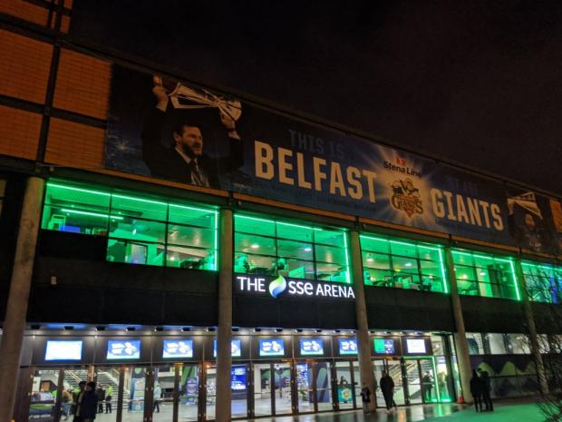 The Gazette: The SSE Arena. Picture; Stephen Mcilkenny
