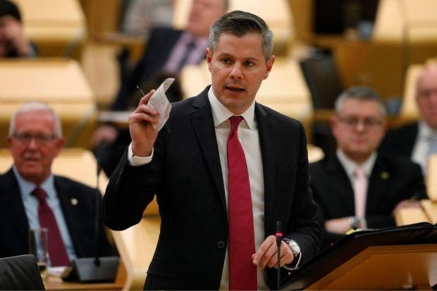 'Very difficult' to see how Derek Mackay can continue as MSP, says SNP chief