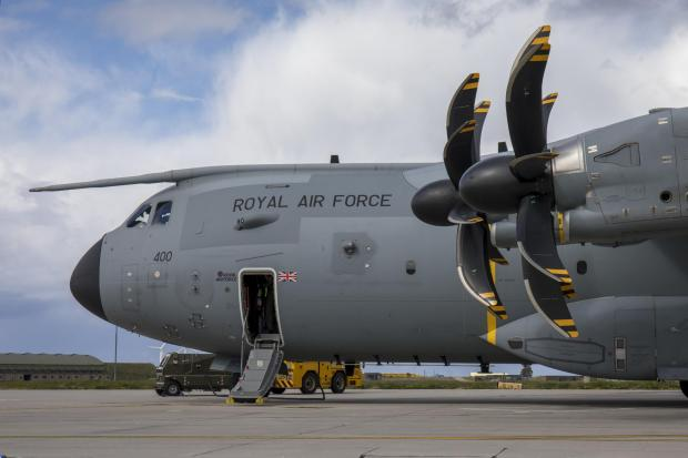 The Gazette: This is an Airbus A400M Atlas, the type of airfact seen over Glasgow in recent weeks (Image: RAF)