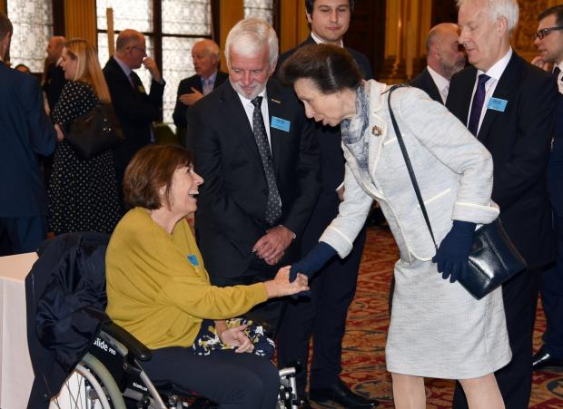 The Gazette: Christine met Princess Anne at a reception hosted by MND Scotland