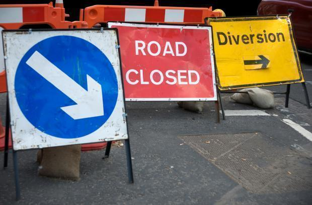 A stretch of road will be closed at various times next week