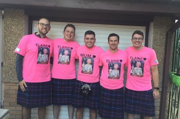Ryan and four friends completed the Virtual Kiltwalk