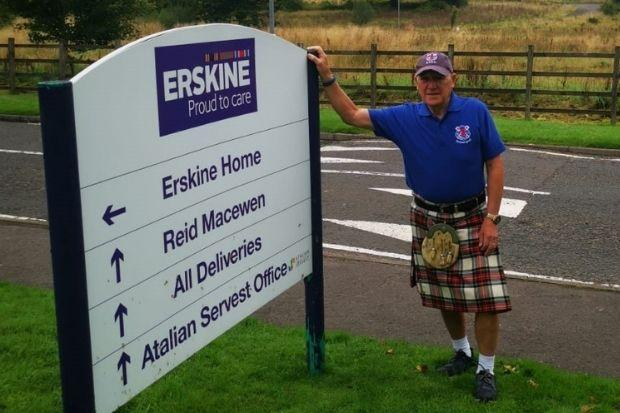 Jim Clark was on a mission to generate funds for the Erskine veterans charity
