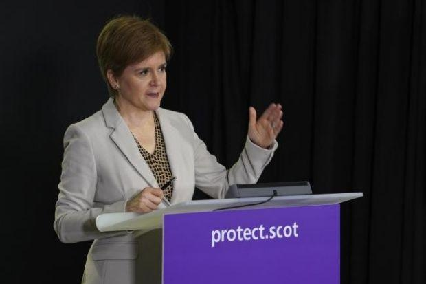 Nicola Sturgeon said the travel ban was necessary to avoid a national lockdown.