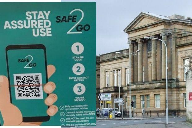 The new SAFE2GO app is being rolled out in courts across Scotland