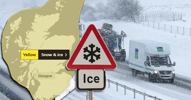 32-hour snow warning issued as Met Office forecast dangerous icy conditions