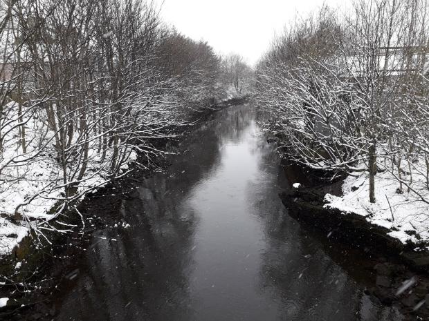 The Gazette: The White Cart River from Niddry Street, Paisley, by Scott Manson