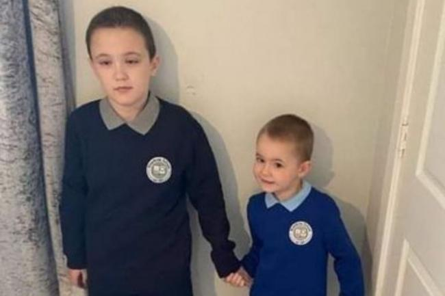 Johnstone youngster Carter Duffy (right) with his big brother Cole