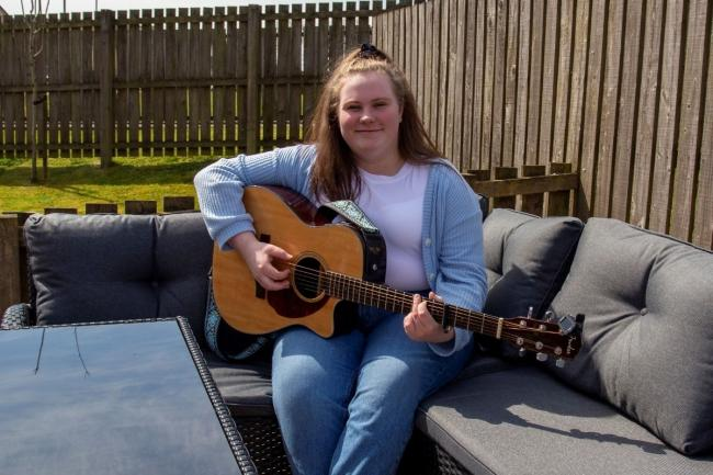 Jordan Stewart is studying commercial music at the University of the West of Scotland