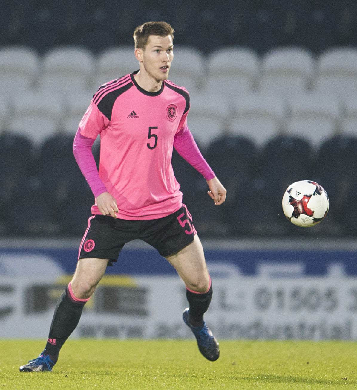 Jamie McCart playing for Scotland Under-21s