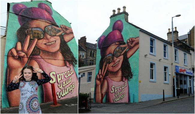 Paisley girl, 7, stars in 2021 UK City of Culture bid mural | The