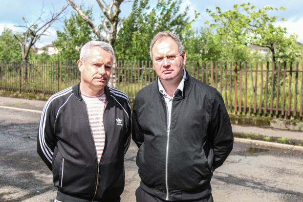 The Gazette: Johnstone Community Council secretary Iain McMillan (left, pictured with Cllr John Hood) admitted concerns over the office's proposed location