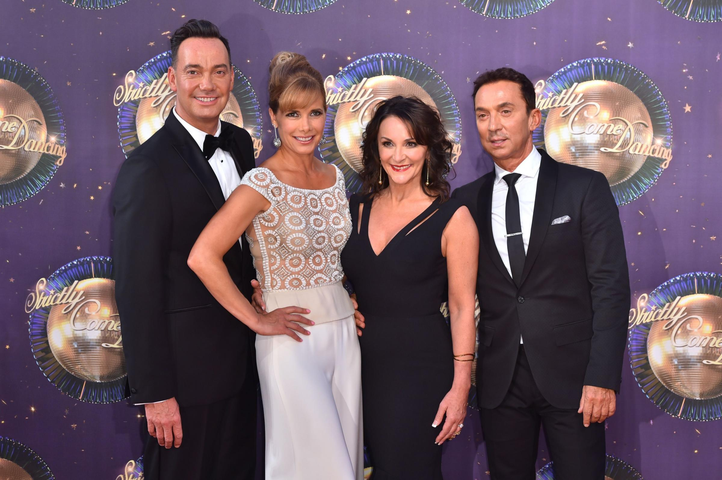28/8/17 PA File Photo of Strictly Come Dancing judges Craig Revel Horwood, Darcey Bussell, Shirely Ballas and Bruno Tonioli. See PA Feature TV Strictly. Picture credit should read: Matt Crossick/PA Photos. WARNING: This picture must only be used to accomp