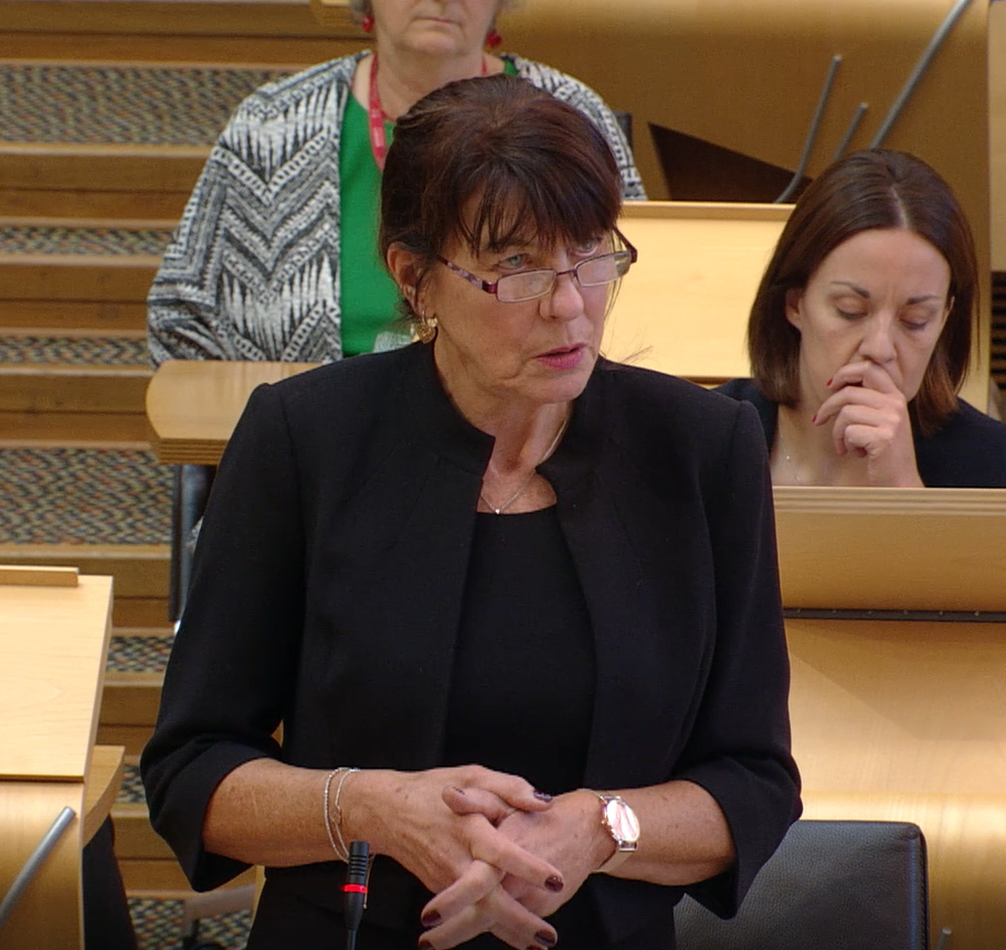 Mary Fee spoke out at Holyrood