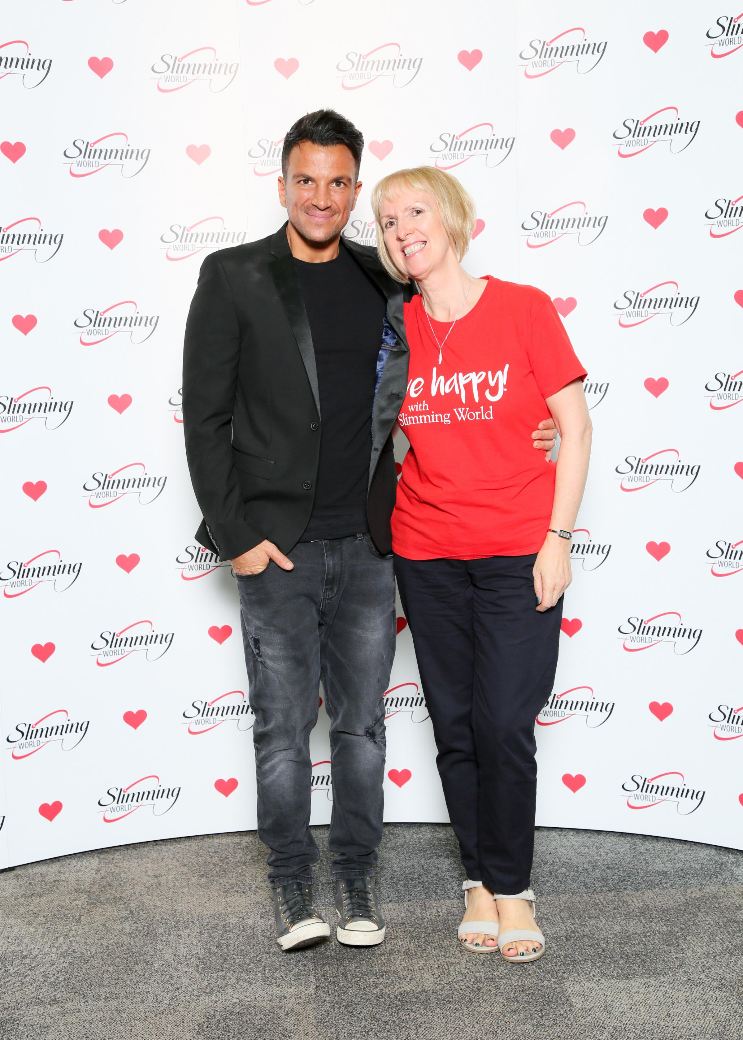 Slimming World Consultant Liz Smith meets singer and presenter Peter Andre.