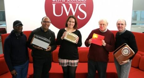 Paisley FM directors Samuel Yerokun, Javed Sattar, Annie McGuire, Robert McWilliam and Norman Ross