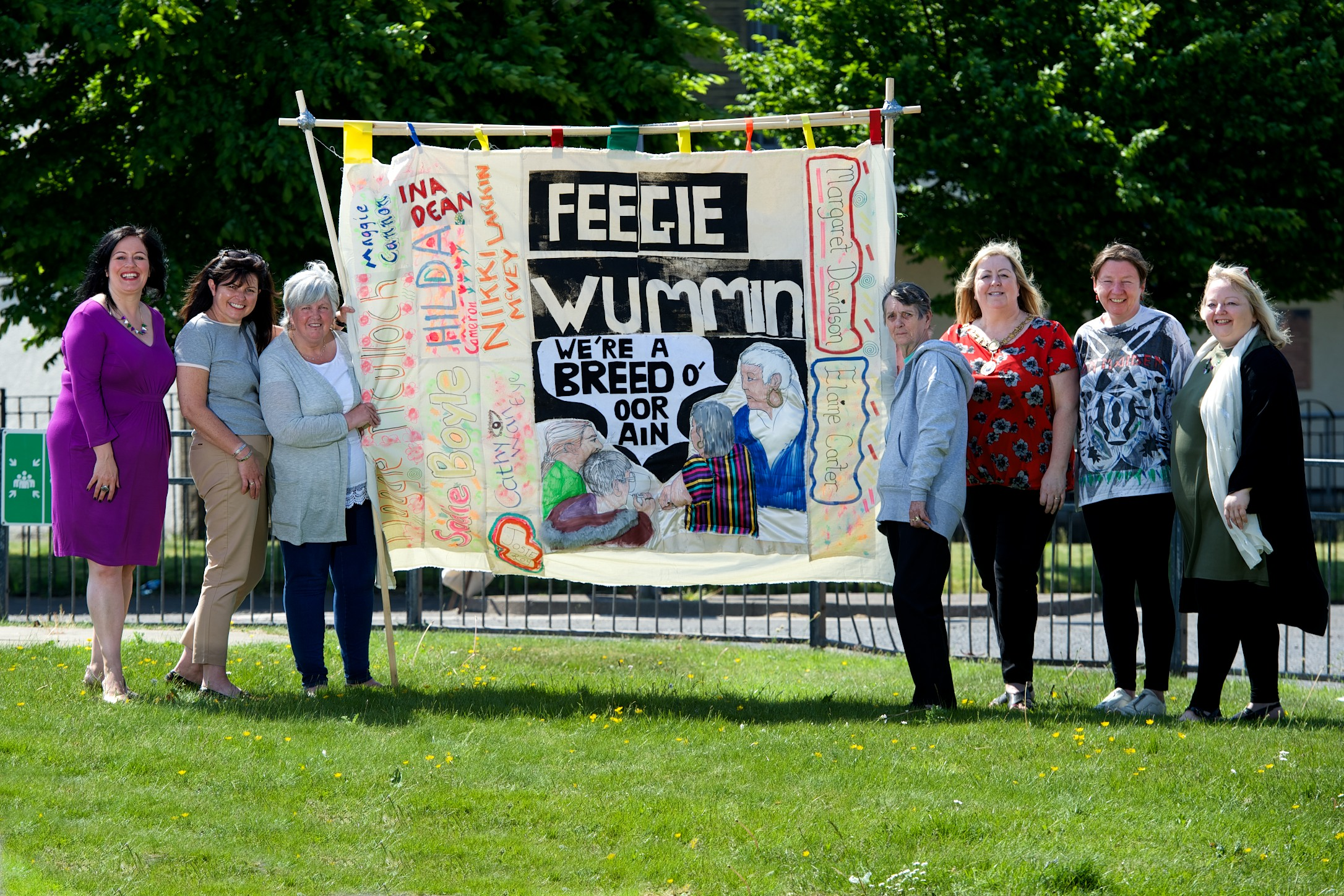 Group of Ferguslie women create artwork for march celebrating women's rights