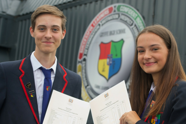 Euan and Maisie Huey were some of the talented teens to celebrate their exam success.
