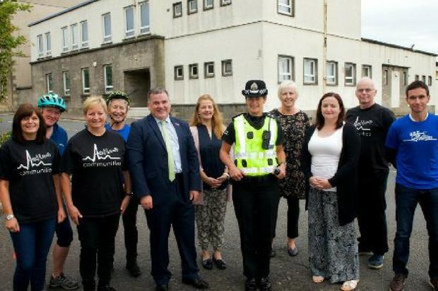 Inspector Cassie Glass and Cllr Iain Nicolson with Active Communities staff