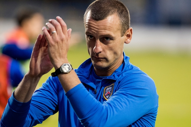 Oran Kearney while in charge of Coleraine