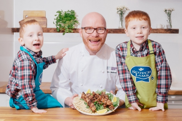 Scotland's national chef Gary Maclean and his children