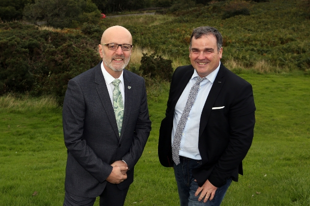 Alan McNiven (left), of Engage Renfrewshire, with Iain Nicolson at the launch of the new investment fund