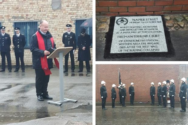 Memorial unveiled to honour fireman 50 years on from blaze