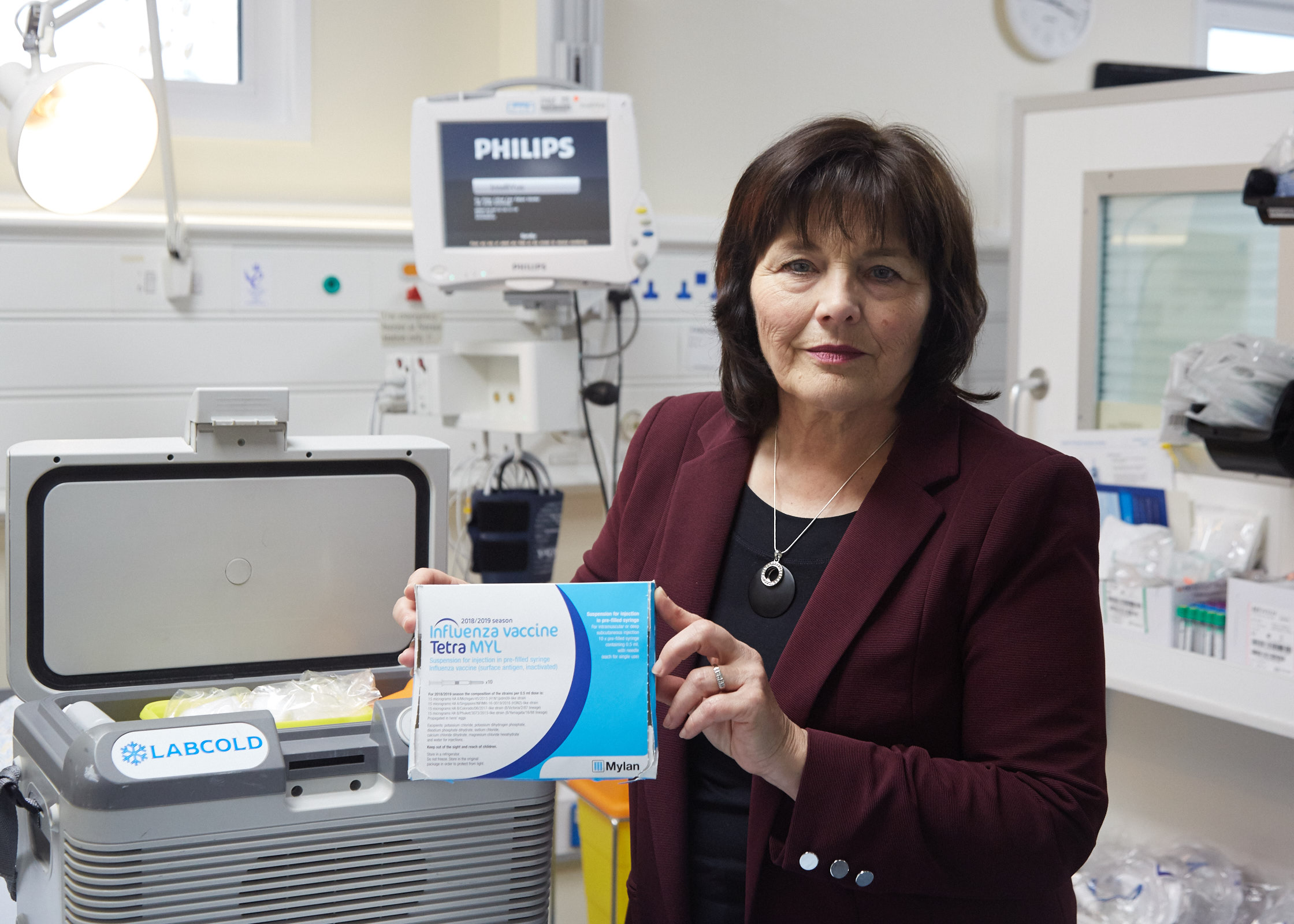Health Secretary Jeane Freeman launched the flu jab campaign at the Royal Alexandra Hospital