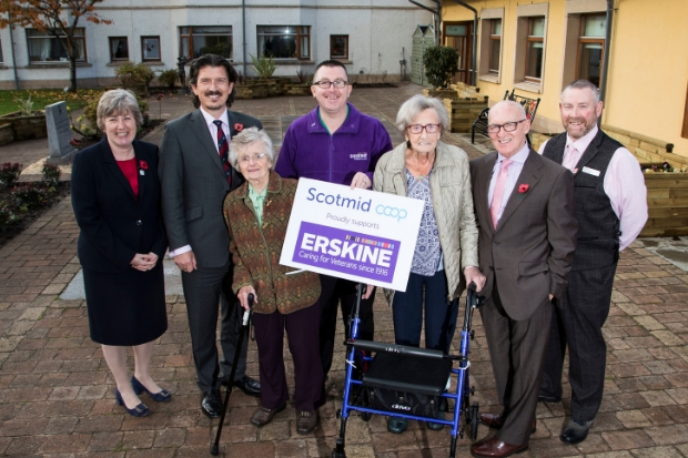Residents at Erskine are delighted with their newly-renovated garden
