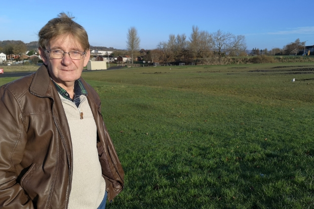 Joe Reilly is among those who want to see the green space in Spateston being left untouched