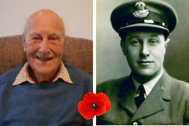 John Haswell Young, affectionately known as 'Hasie', was a Flight Lieutenant (right) in the RAF